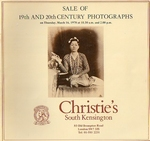 CHRISTIE'S, Sale of 19th and 20th century Photographs, 1978
