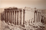 Photo by Felix  Bonfils: exterior of Jupiter Temple Baalbek